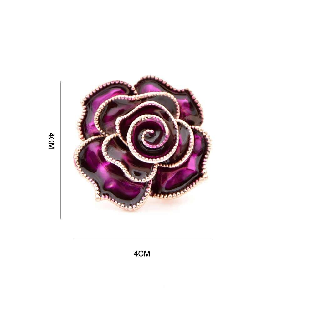 CINDY XIANG 3 Colori Disponibili Del Fiore Dello Smalto Spille per Le Donne Bella Rosa Spilla Spille Accessori Da Sposa Gioelleria Raffinata E Alla Moda