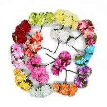 144 шт./лот Искусственный Настоящее сенсорный Бумага роза цветы подарок на день Святого Валентина мини искусственный Бумага роза цветы букет Свадебный Декор 7