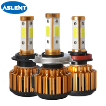 Aslent Car Headlight Mini H7 LED H4 Bulb With COB Chip 100W 10000LM 6500K Fog Light 12V/24V Auto H8 H11 9004 9005 9006 Lamps