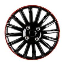 14″ Car Wheel Trims Hub Caps Plastic Covers Universal Black red