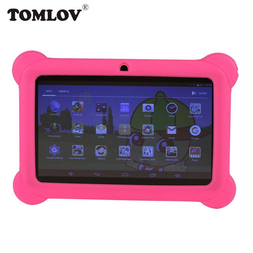 TOMLOV Enfants D'apprentissage Machine Q88 7 pouces Enfants Tablet PC 1g + 8 gb A33 Quad Core Android 4.4 tablet PC UE Plug