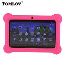 TOMLOV детское обучающее устройство Q88 7 дюймов детей планшеты PC 1 г + 8 ГБ A33 4 ядра Android 4,4 ЕС Plug