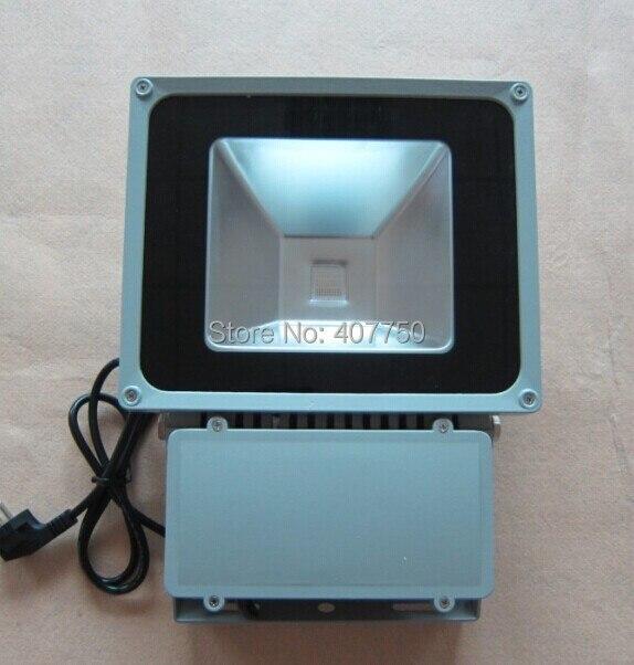 La puissance américaine bouchons imperméable IP65 unique couleur COB 80 w a mené la lumière dinondation utilisé pour les supermarchés et les salles publiques