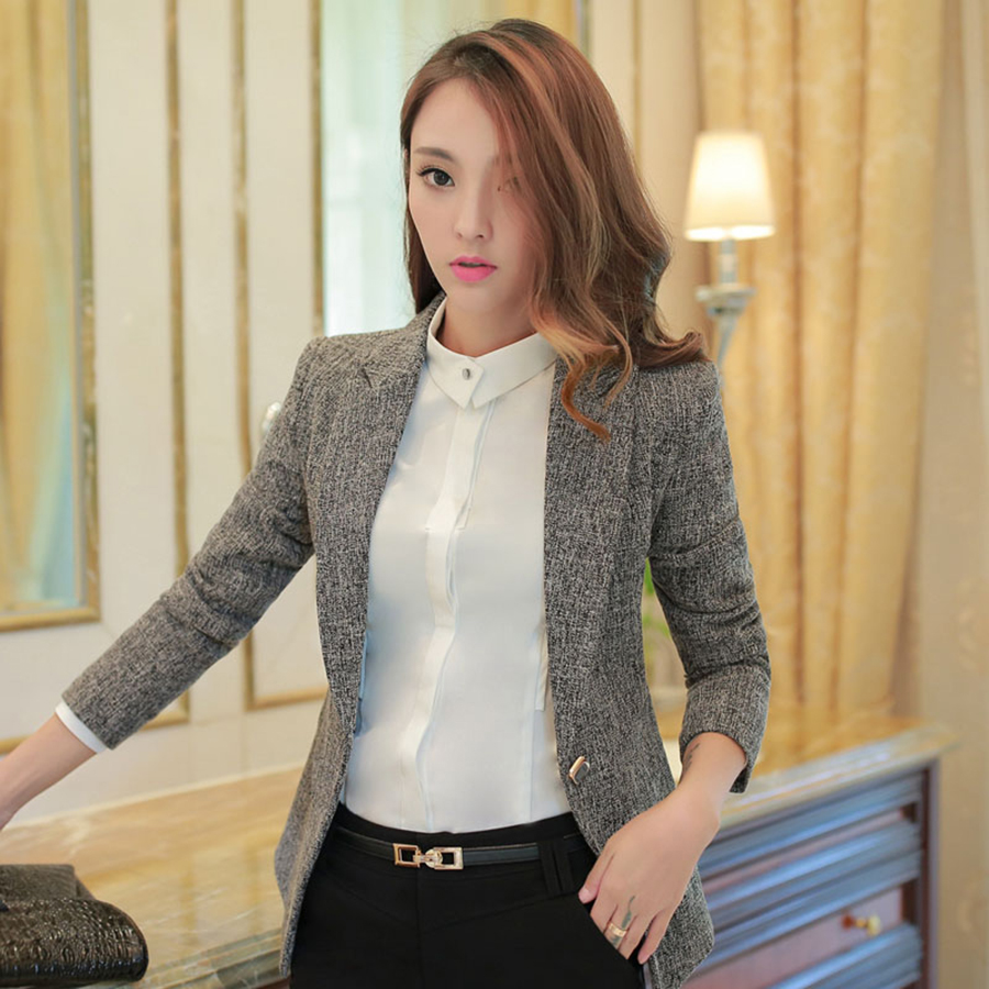 Casual Women Blazer Coat Feminino Plus Size Women Blazers And Jackets Jaqueta Feminina Office Suits Casaco Ladies Coat 50N0414