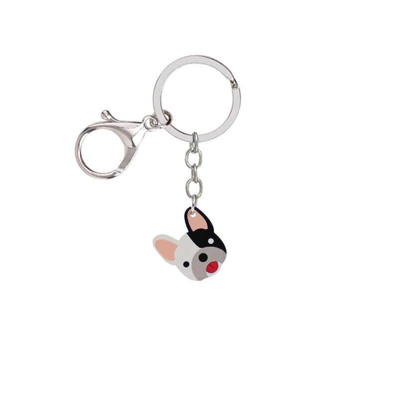 1 พิโคเซคอนเรซิ่น Mini BULLDOG FRENCH BULLDOG น่ารักพวงกุญแจสัตว์ Key Chain โทรศัพท์มือถือกระเป๋าอุปกรณ์เสริมเด็กคริสต์มาสของขวัญที่ละเอียดอ่อน