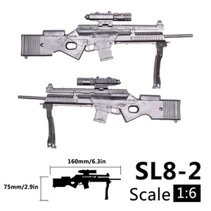 Image 4 - 1:6 1/6 весы, 12 дюймовые фигурки, винтовка, Спортивная винтовка, мини модель, пистолет, игрушка, используется для 1/100 мг Bandai Gundam, модель, детская игрушка