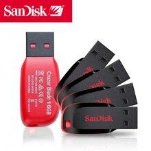 ใหม่ SanDisk USB Flash 8 GB 16 GB 32 GB 64 GB 128 GB CZ50 Cruzer Blade MINI CLE USB 2.0 Stick JUMP ไดรฟ์ Disk ON Key Pendrive 32 GB