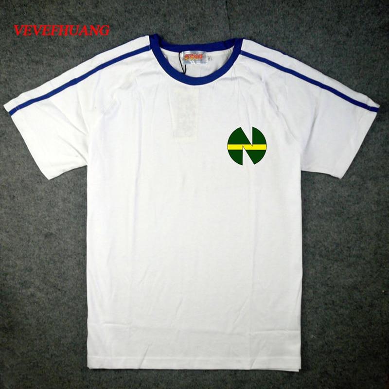VEVEFHAUNG JP Anime Captain Tsubasa Cosplay Costume Tsubasa Ozora Nankatsu Elementary School Short Sleeve Soccer Jersey T-shirt