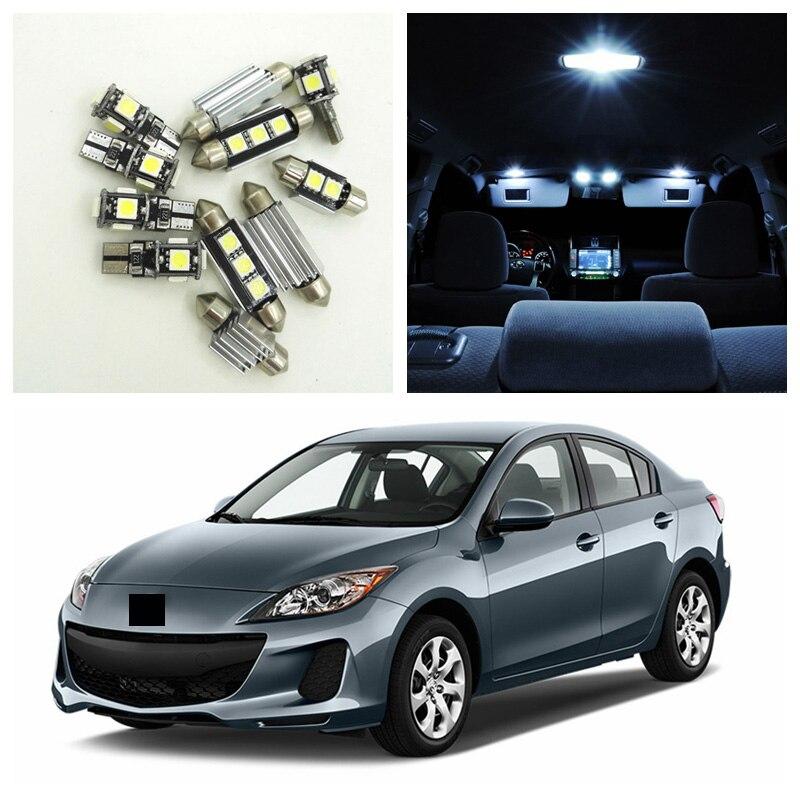 2012 Mazda Cx 9 Interior: 9pcs White LED Light Bulbs Interior Package Kit For 2010