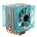 Ультра-низкий Уровень Шума Двойной Вентилятор ПРОЦЕССОРНОГО Кулера Радиатор Радиатор С Светом ВОДИТЬ Для Intel LGA1155/1156/1150 Для Core i7 i5 i3