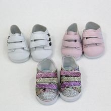Doll Shoes for  18 inch Girls Mini Sneackers Fits For 43 cm New Born Baby Sport Toy Boots Accessories