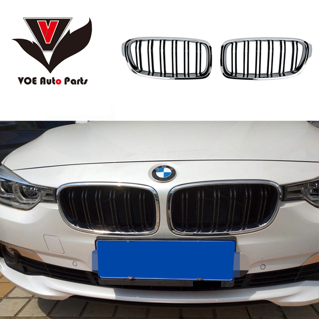 F30 F31 Chrome Gloss Black M Style Car Styling Front Racing Grill