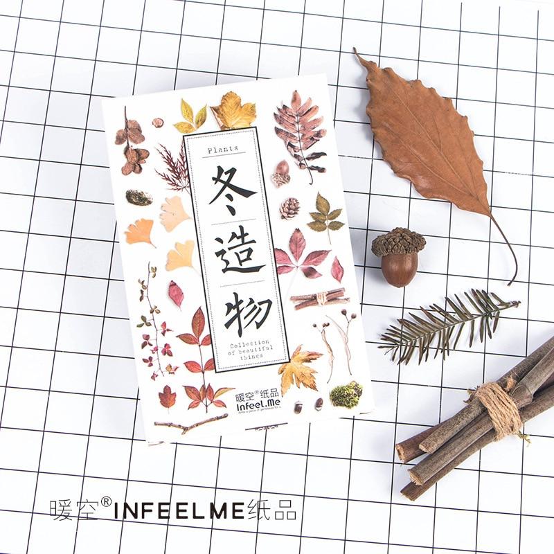 30pcs/lot Winter Creation Lovely Plants Natural Kawaii Cartoon Postcards Cute DIY Envelop Gift Card Creative Bookmark Wholesale