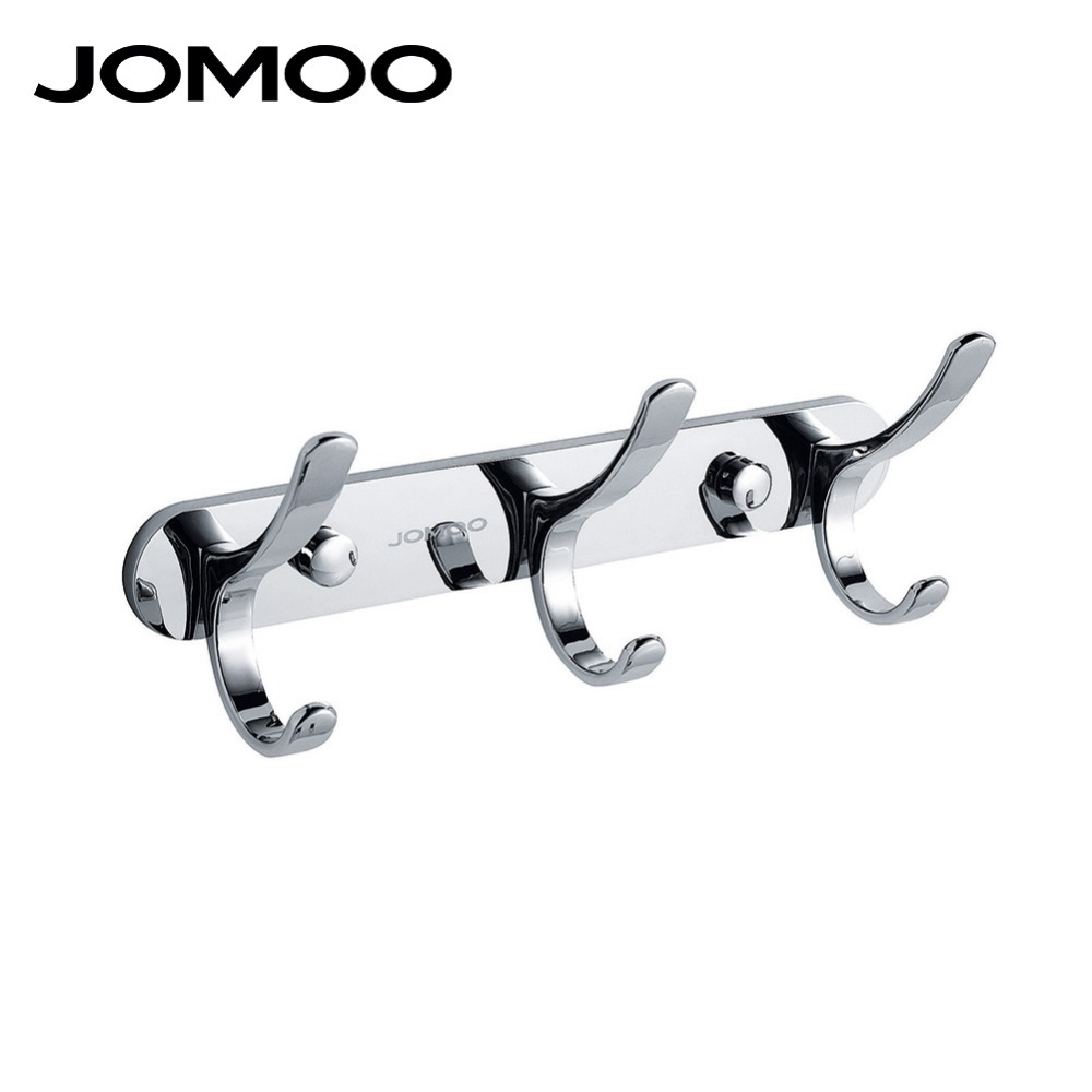 JOMOO Robe Hook Wall Hooks Nail Coat Hook Zinc Chrome Kitchen Key Holder Wall Mounted Clothes Hat Hooks Bathroom Accessories xueqin stainless steel 4 hooks coat hat clothes robe holder bathroom rack hooks wall hanger wall mounted bathroom accessories