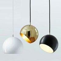 Post Modern Restaurant Pendant Lights Hanging Lamps For Bedroom Round Shop Bar Penant Lamp Single Head Bedside led Pendant Light