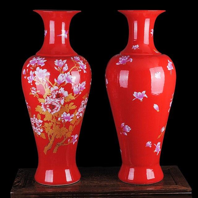 Deko wohnzimmer vasen gold  Aliexpress.com : Jingdezhen keramik vase China landung große rote ...