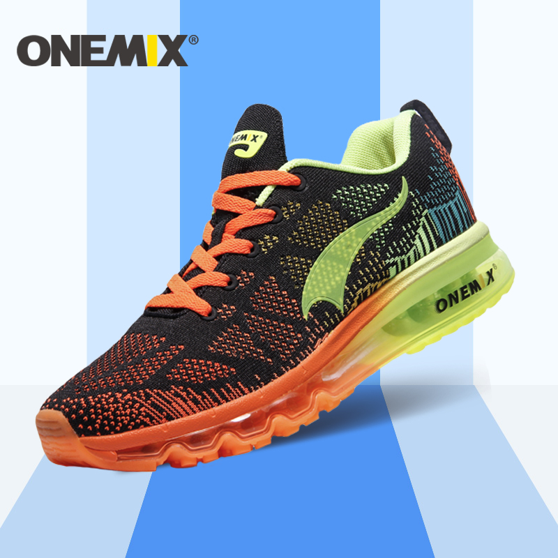 ONEMIX 2016 Cushion Men's Running Shoes Breathable Runner Athletic Sneakers Men Outdoor Sports Walking Shoes free shipping onemix 2016 men s running shoes breathable weaving walking shoes outdoor candy color lazy womens shoes free shipping 1101