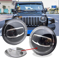 Новый автомобиль светодиодный 7 дюймов круглые фары DRL поворотник галогеновые фары для Jeep Wrangler JK TJ CJ Hummer Лада Нива 4X4 Налобные фонарики