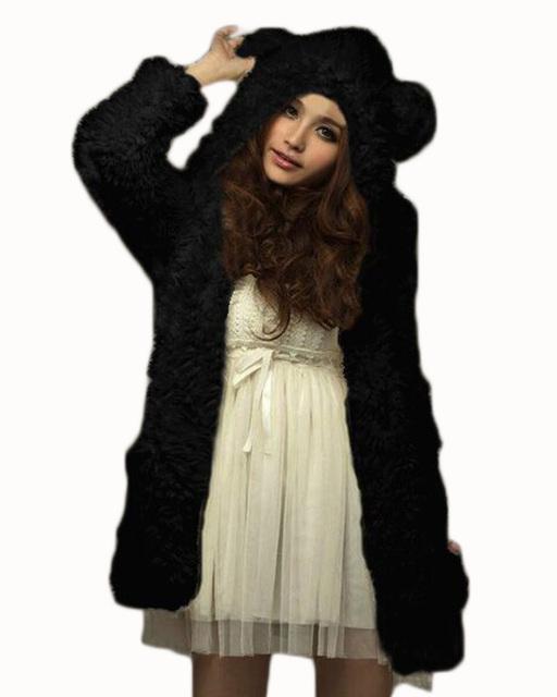 Fleecie Hoodie Kacket With Bear Ears Hood