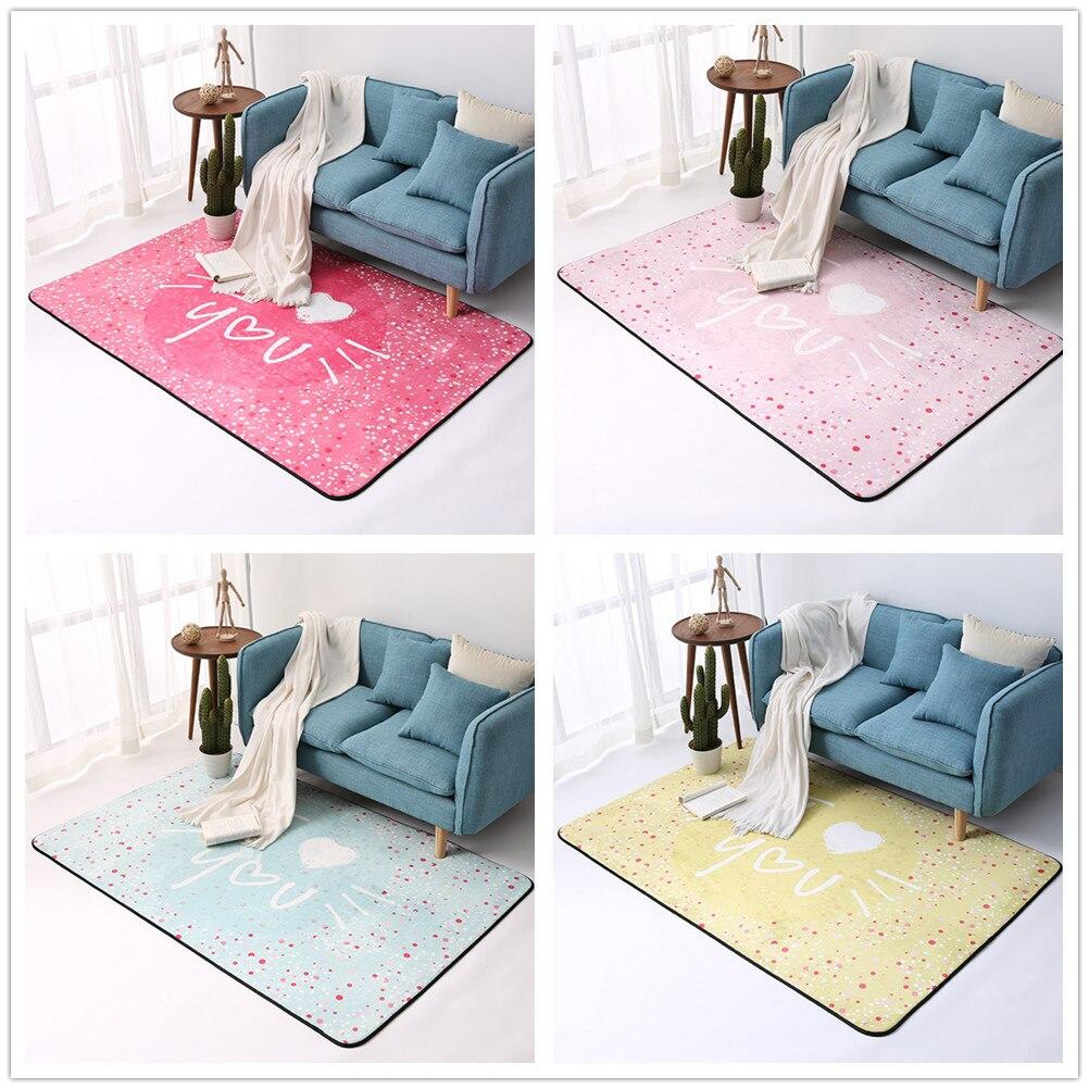 Je t'aime série tapis pour salon romantique tapis pour chambre bande dessinée tapis doux enfants chambre Table basse tapis de sol