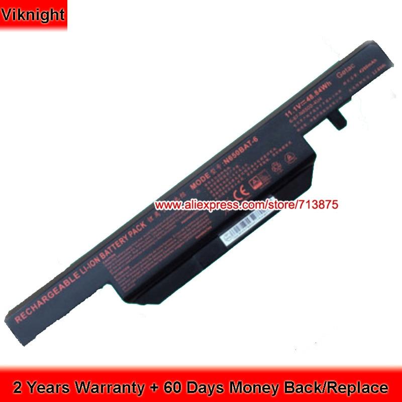 Genuine Clevo N650BAT-6 6-87-N650S-4UF1 48.84Wh Laptop Battery 62wh original clevo n850bat 6 n850hk1 n850hj1 6 87 n850s 6u71 6 87 n850s 6e7 laptop battery