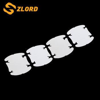 Zlord Car Door Handle Scratch Protector Film Sticker for Ford Focus Kuga Escape Mondeo Everest Fiesta Ecosport image