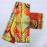 African Wax Lmitated Silk Fabric 2019 Satin Fabric 4 Yards Ankara Cotton Fabric for Dress +2 yards Chiffon ! L51180