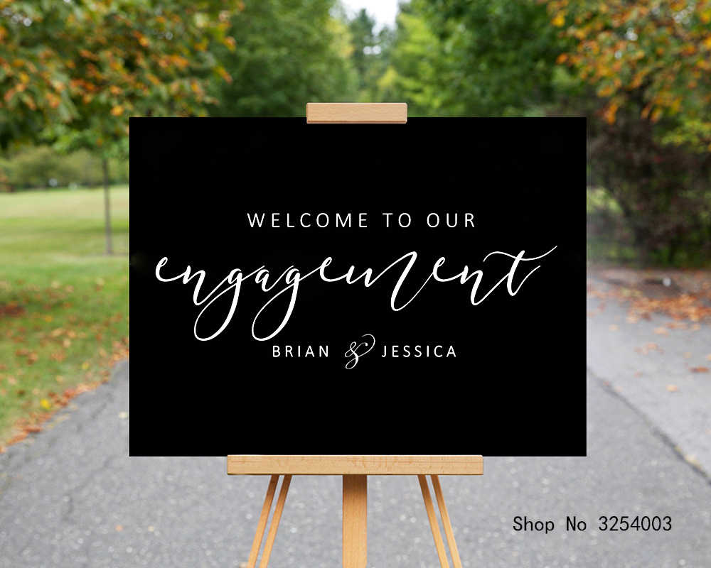 Custom Engagement Decor Signs Custom Welcome Decal