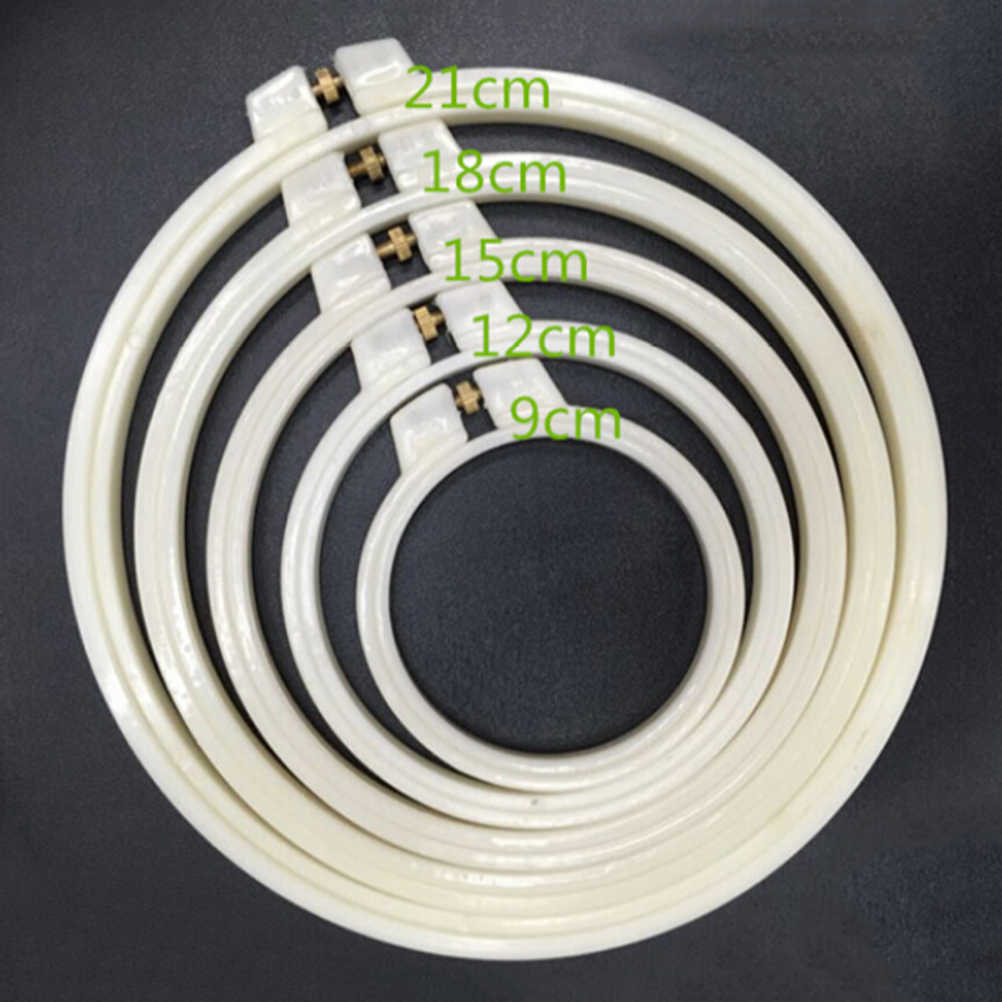 7-30cm plastic/Wooden Frame Hoop Circle Embroidery Round Machine Bamboo For Cross Stitch DIYHousehold Craft Sewing Needwork Tool