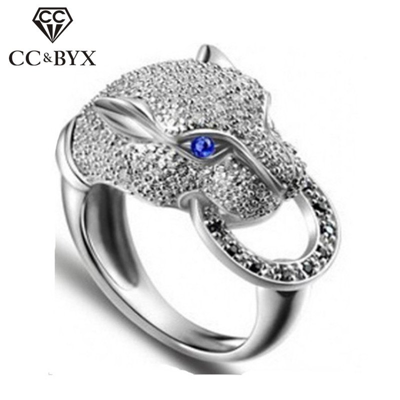 Hot popular leopard rings for women fashion animal rings party punk jewelry girls accessories anel bijoux perfect gifts CC045