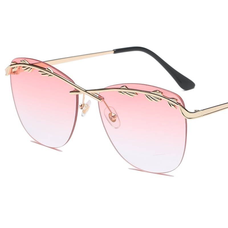 2019 Sunglasses Women Olive Leaf Street Fashion Trend Street Style Sun Glasses Women Oversized Sun Glasses Gothic Vintage Glass in Women 39 s Sunglasses from Apparel Accessories