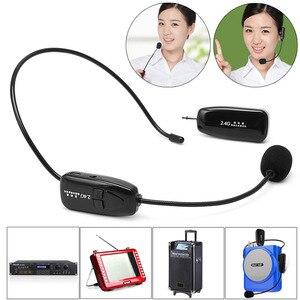 Image 2 - Беспроводной микрофон 2,4G, Речевая гарнитура, мегафон, Радио, микрофон для громкоговорителя, обучающий, для совещаний, гида, микрофон высокого качества