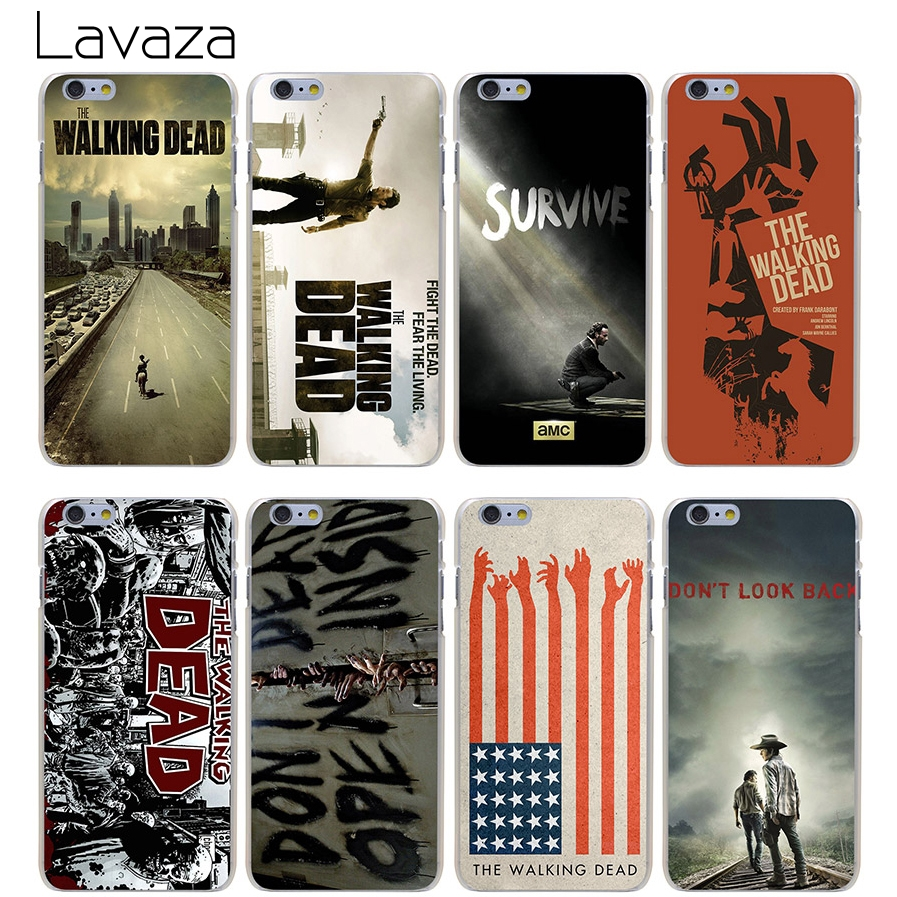 Lavaza High Quality Phone Cases The Walking Dead Hard Transparent Cover Case for iPhone X 10 8 7 6 6S Plus 5 5S SE 5C 4 4S