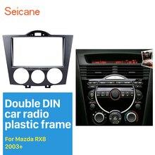 Seicane Doppio DIN Car Radio Fascia per 2003 + Mazda RX8 Auto Stereo CD Pannello di Rivestimento Dash Radio Installazione Refit telaio Kit per Auto