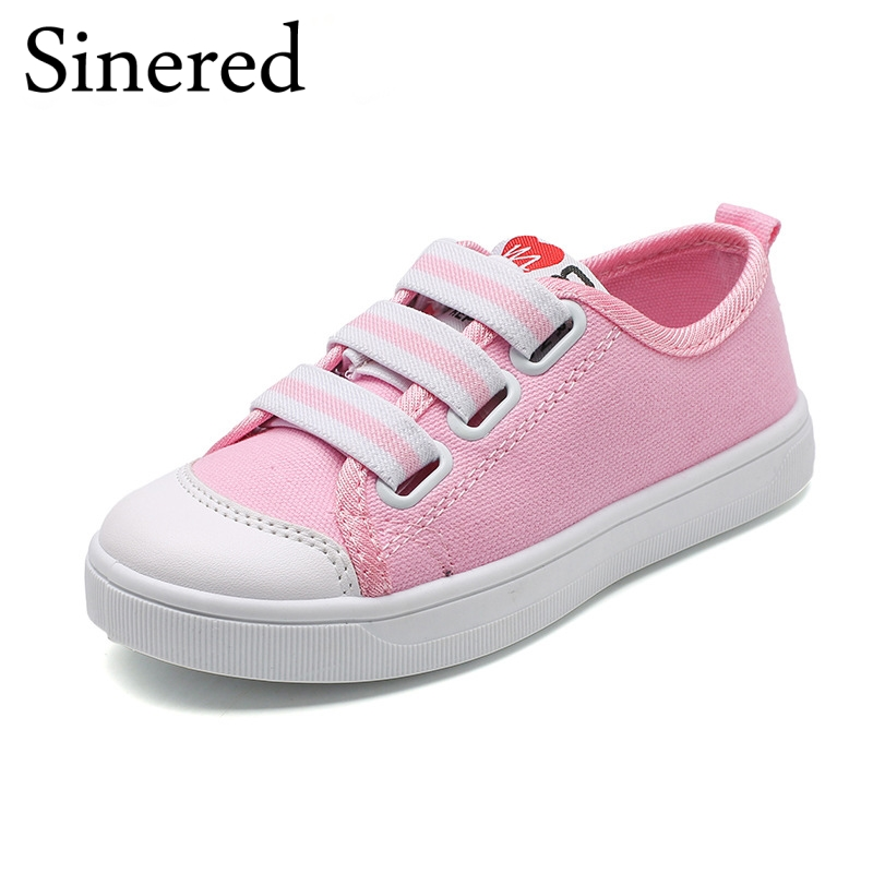 Sinered 2018 Spring Childrens canvas shoes girls boys casual sport shoes teenage students fashion sneakers for kids