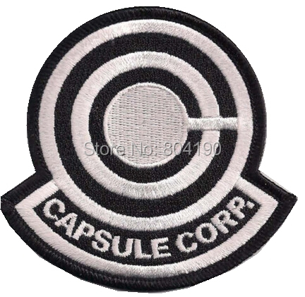 3 5 Dragonball Z CAPSULE CORP Logo Classic Video Game TV MOVIE Costume Uniform Embroidered Emblem