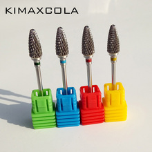 KIMAXCOLA New Millings carbide nail drill bit electric file coarse 3/32  for machine