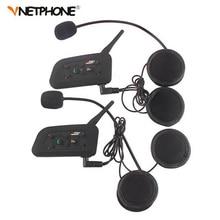 2PCS Pro BT Interphone 1200M Wireless Motorcycle Bluetooth Helmet Intercom headset for 6 Rider недорого