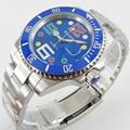 40 мм синий циферблат цветной знак сапфир Дата автоматическое движение Мужские часы