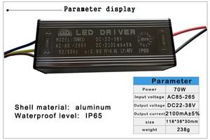 Image 5 - LED נהג 10W 20W 30W 50W 70W מתאם שנאי AC85V 265V כדי DC22 38V IP65 אספקת חשמל 300mA 600mA 900mA 1500mA 2100mA