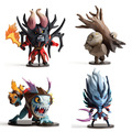 DOTA 2 Game Figure Slark Doom Tiny VS  PVC Action Figures Collection dota2 Toys
