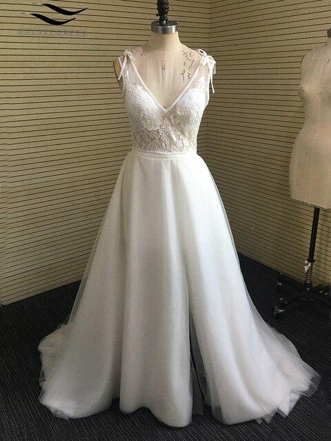 Solove Strand Hochzeit Kleid Eine Linie 12 Schichten Vintage