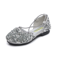 Glitter Kids Shoe Girls Leather Sandals Fashion Toddler Wedding Shoes Silver Sneakers Princess 2019 For
