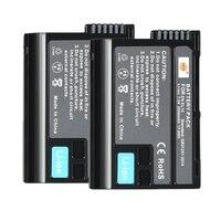 DSTE 2PCS EN EL15 en el15 Camera Battery for Nikon D500 D7000 D7100 D800 D800E D600 D610 D810 D7200 D7500 V1 D850 Z6 Z7