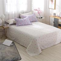 Aloe Cotton Bedding Set 1 Pcs bed sheet flat sheet size 160*220/230*230/230*250 cm sabanas bedsheet drap de lit free shipping