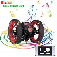 New Intelligent Mini Cars Bounce Car SJ 81 2.4GHz RC Car with Flexible Wheels Rotation LED Light RC Robot Car Toys Gifts For Kid