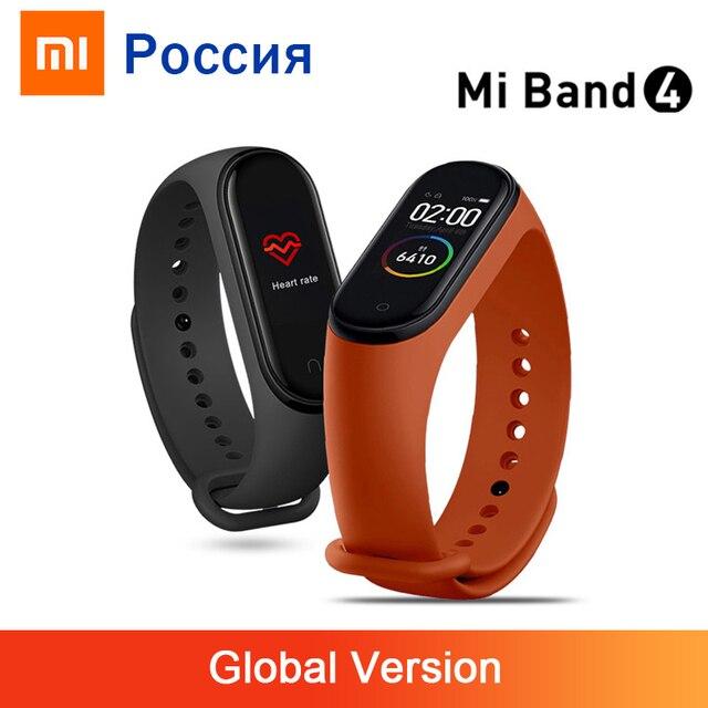 Versione globale Xiao mi Band 4 braccialetto Fitness Tracker impermeabile cardiofrequenzimetro Display colorato Bluetooth 5.0 135mAh