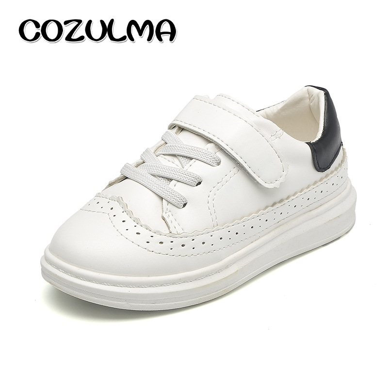 COZULMA Children Sport Shoes Boys Girls Fashion Skate Sneakers Breathable Kids Brogue Shoes Eva Sole 3 Colors Size 26-30