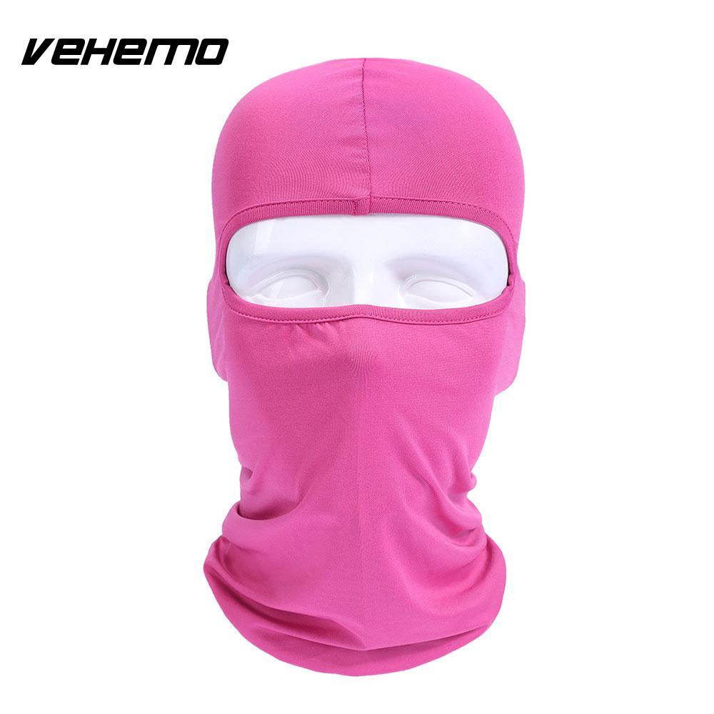 Vehemo аксессуары для улицы полная мотоциклетная маска для защиты лица шапки унисекс 14 цветов Практичная Балаклава лайкра защита удобный - Цвет: rose red