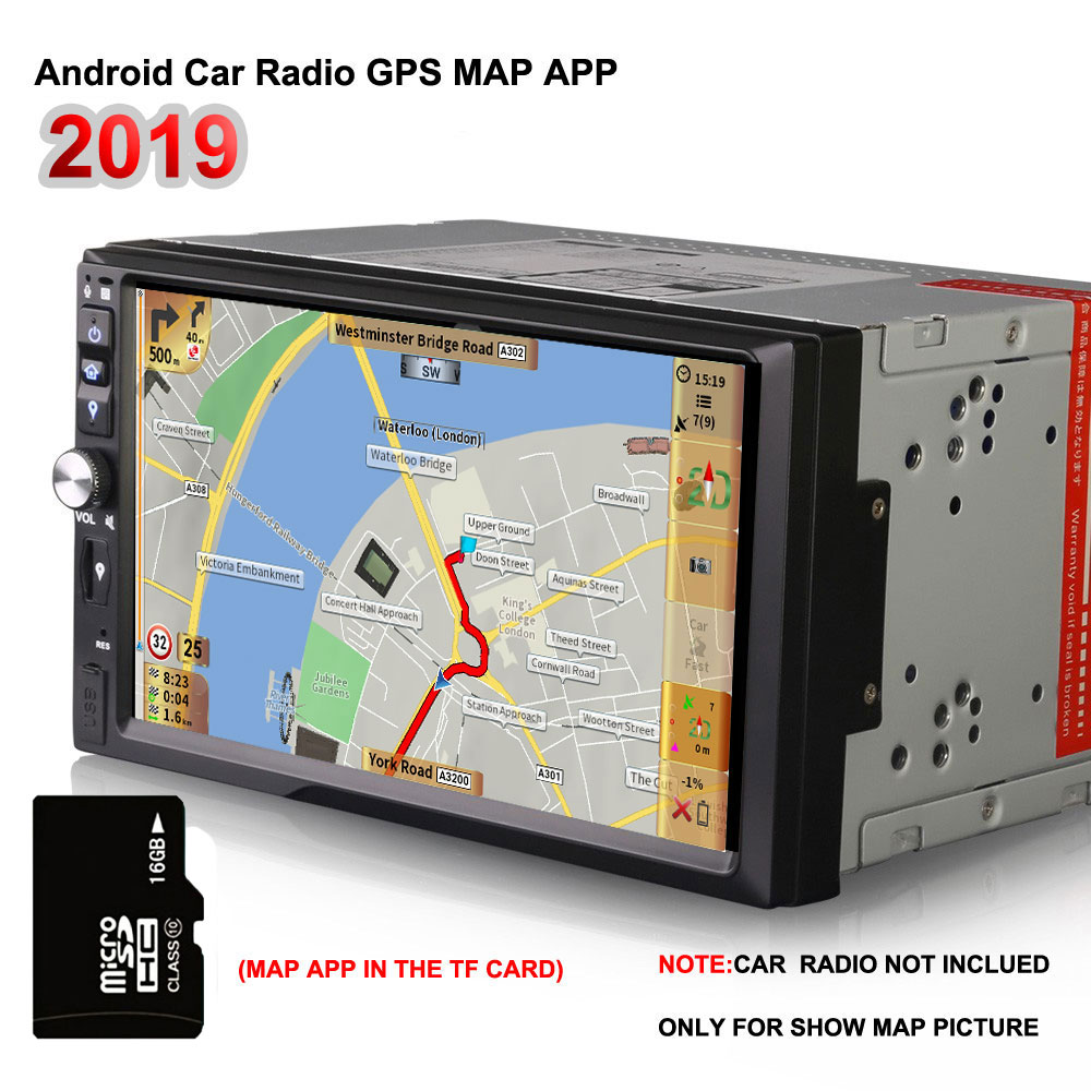 2019 latest map app offline 16G gps maps Micro sd card for android car dvd Europe 49 countries support speedcam Voice Guide image